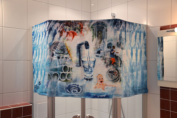 Handdoek Pidpa, kunstwerk Wim Noordam