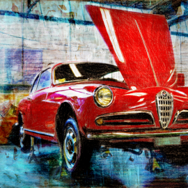 Alfa Romeo, grafische kunst Wim Noordam