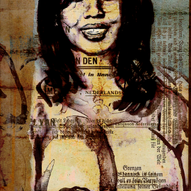 Naakt, grafische kunst Wim Noordam