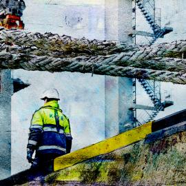 De havenarbeider, roeier