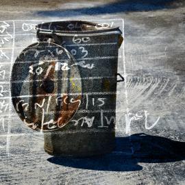 Garbage can, grafische kunst Wim Noordam