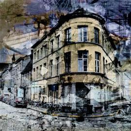 grafische kunst, straat in Gent