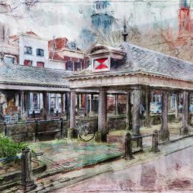 De Vismarkt in Gouda door Wim Noordam
