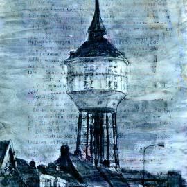 Watertoren in Goes door Wim Noordam