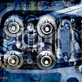 Grafische kunst Scheepsmotor 1