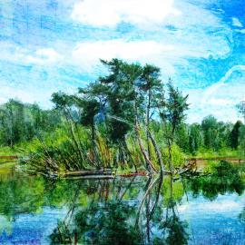 Eilandje, kunstwerk Wim Noordam