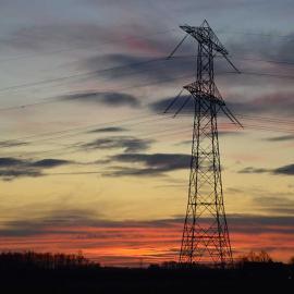 Grafische foto, elektriciteitsmast