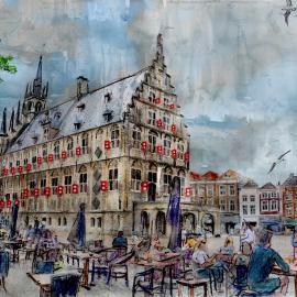 Stadhuis in Gouda door Wim Noordam