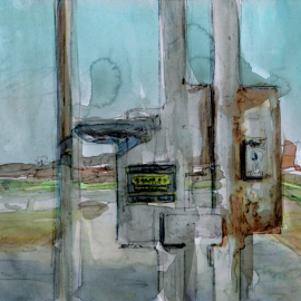 kunstwerk van hek onder de televisietoren