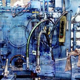 Grafisch kunstwerk van hydraulische systeem