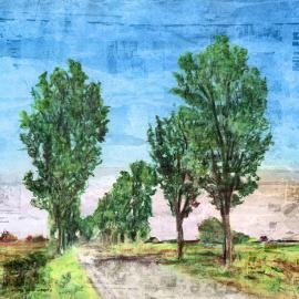 Landweggetje in de zomer door Wim Noordam