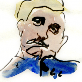 Aquarel, inkt - portret 3