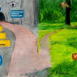 De toekomst, illustratie Wim Noordam