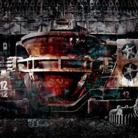 De staalfabriek, grafisch kunst Wim Noordam