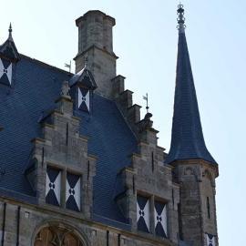Detail stadhuis Veere, foto Wim Noordam
