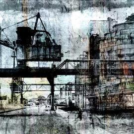 Weg langs de fabriek, Sas van Gent, door Wim Noordam