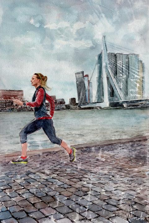 De Hardloopster - Rotterdam