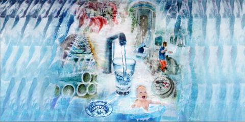 Grafische kunst drinkwaterbedrijf Pidpa