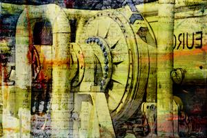 Grafische kunst, zware machine