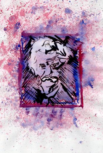Aquarel, inkt - portret 5
