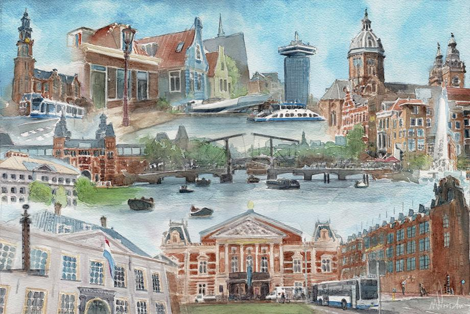 Amsterdam, grafische kunst