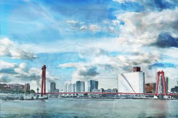 Grafische kunstwerk Rotterdam